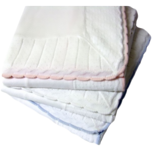 Baby Blanket Cotton Jersey Pointelle