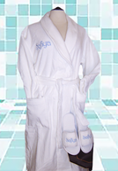 MONOGRAMMED TERRY VELOUR SHAWL COLLAR ROBES