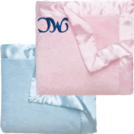 PERSONALIZED SATIN TRIM BABY BLANKET