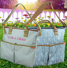 PERSONALIZED FRENCH DIAPER BAG