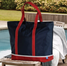 PERSONALIZED HARBOR ZIP TOTE