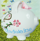 PERSONALIZED HAND PAINTED PIGGY BANKS