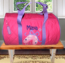 PERSONALIZED QUILTED CHILD'S DUFFLE