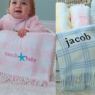 PERSONALIZED CHECK BABY BLANKET